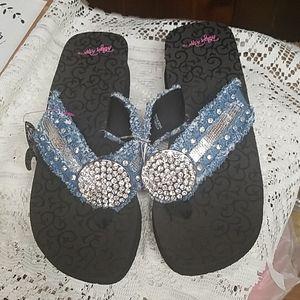 Blazin Roxx Denim Bling Sandals